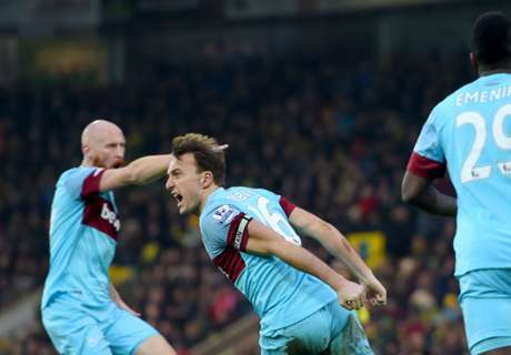 Norwich 2-2 West Ham: Comeback