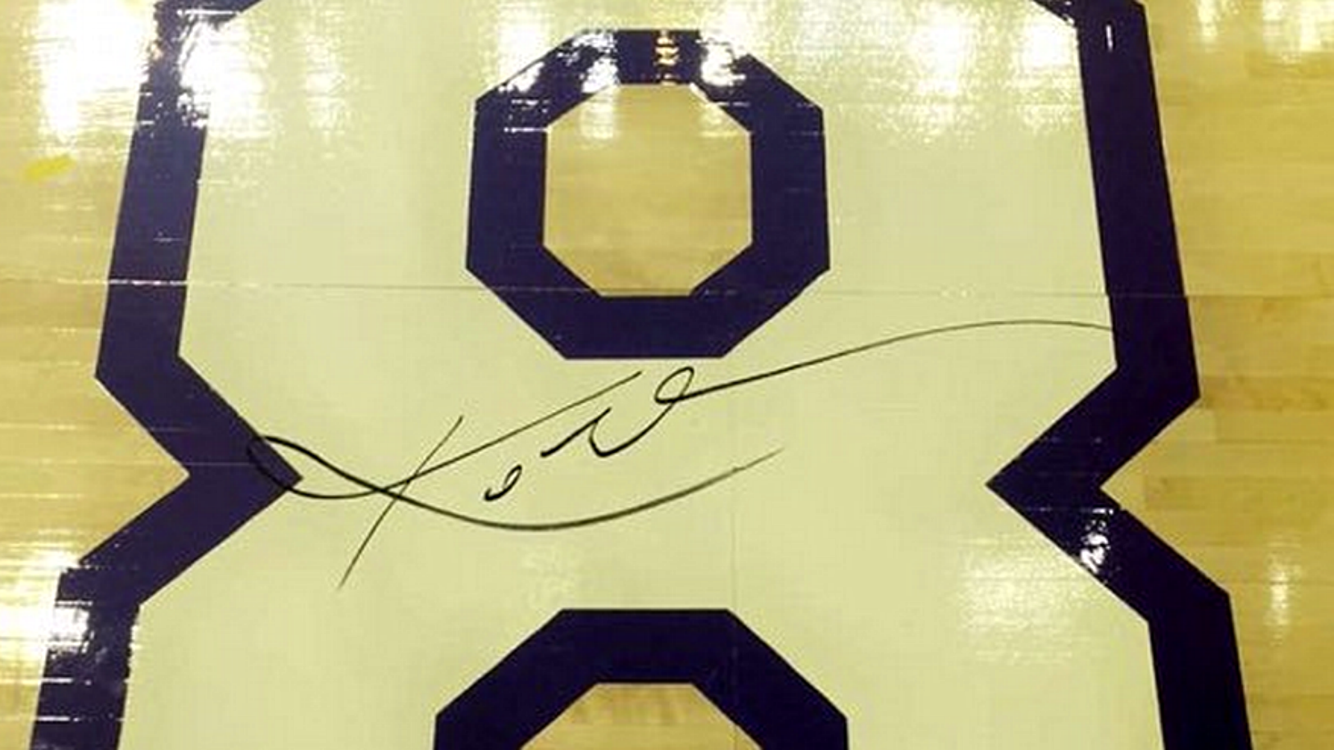 ggooat Piece of Staples Center court signed by Kobe Bryant sells for
