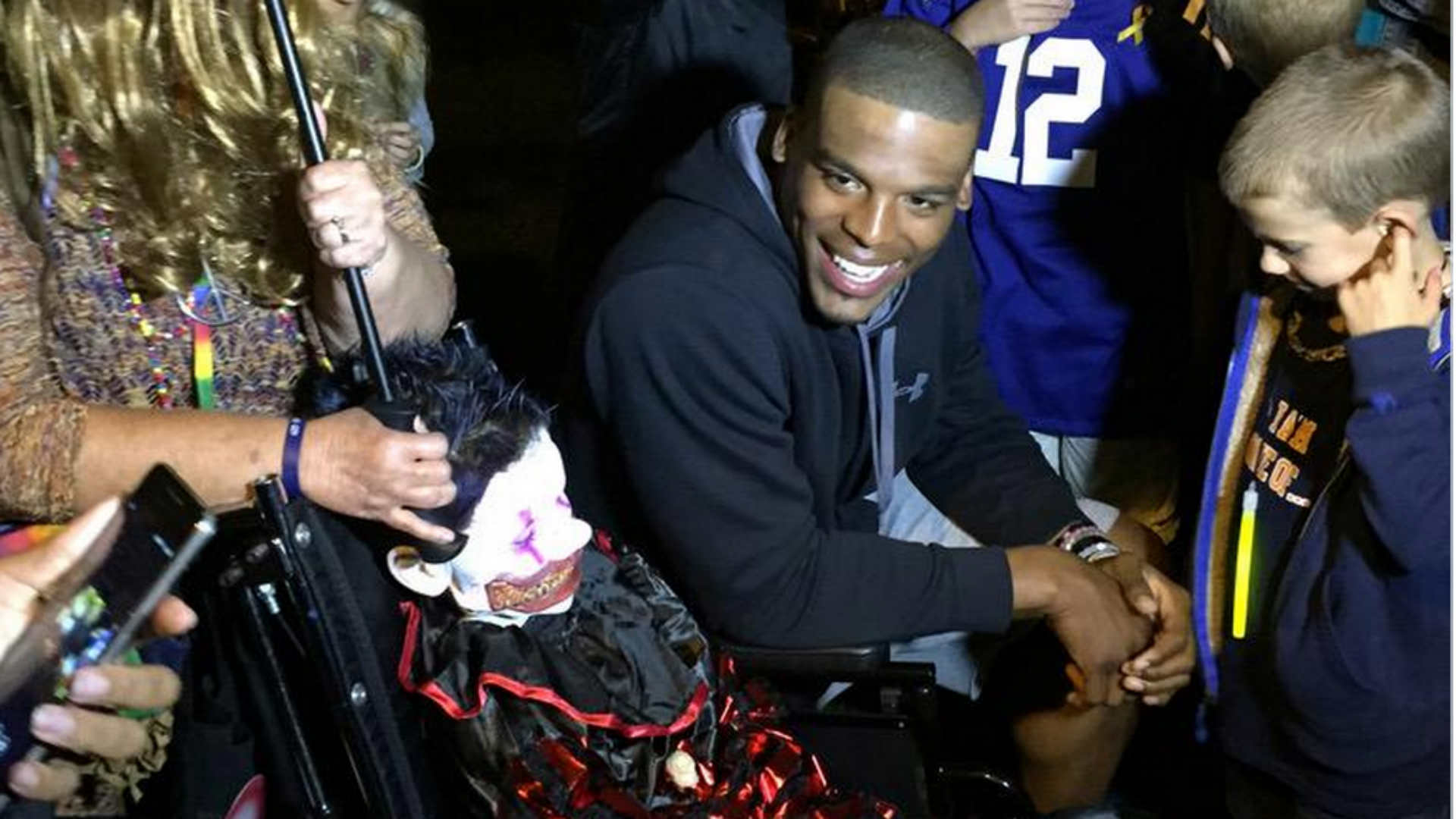Boy, 10, surprised by Cam Newton for Halloween dies of cancer ...