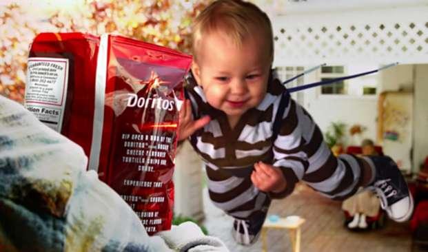 Doritos sling baby