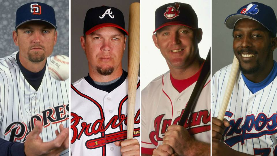 Trevor Hoffman, Chipper Jones, Jim Thome and Vladimir Guerrero