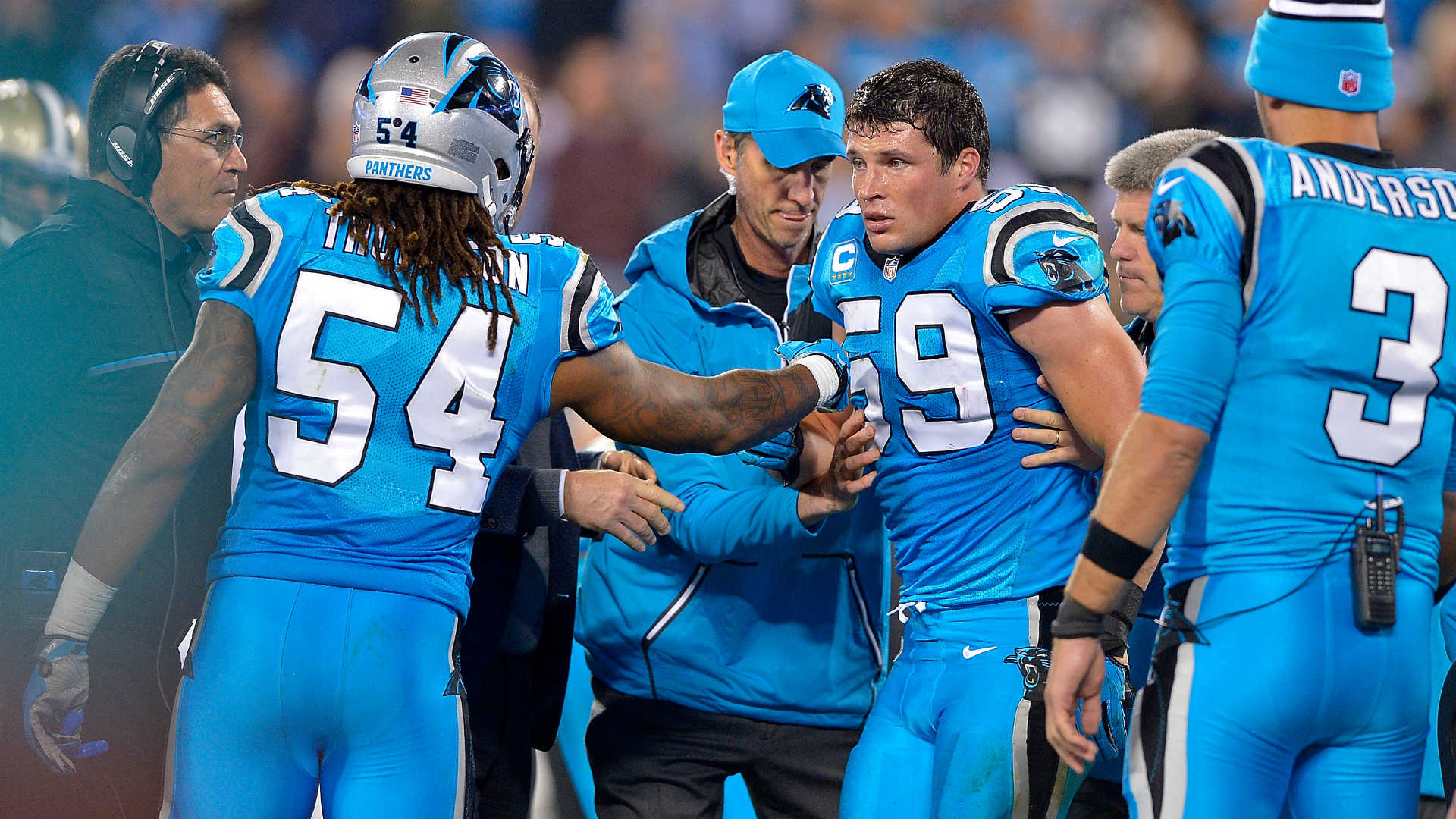 Panthers Luke Kuechly Dodged Concussion Vs Eagles Report Says