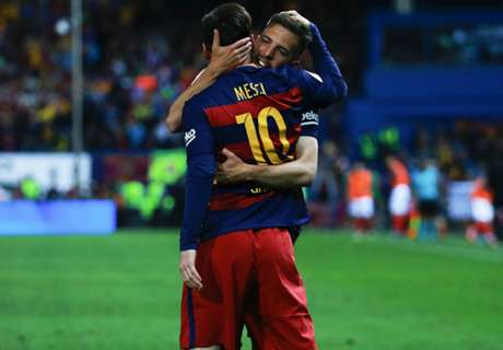 Alba: Messi deserves credit for goal