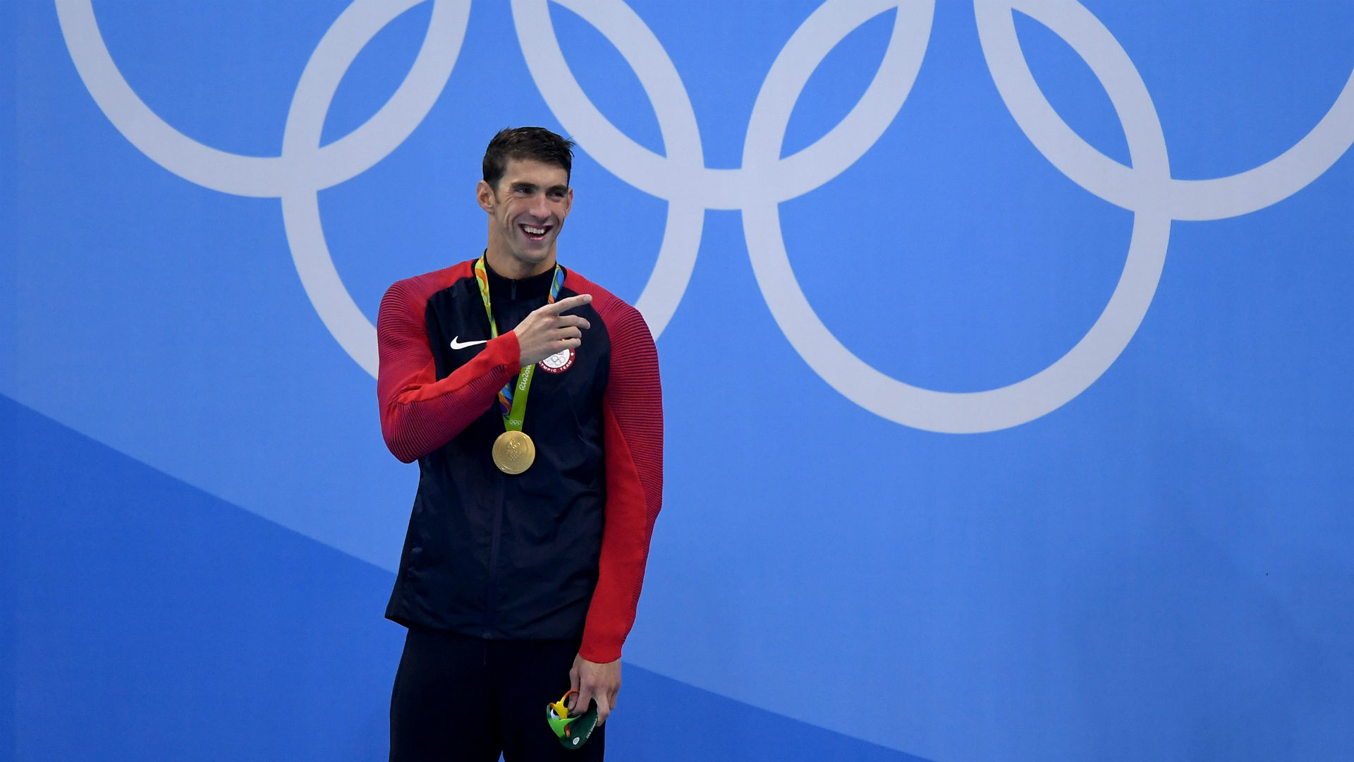 Why Michael Phelps laughed during national anthem