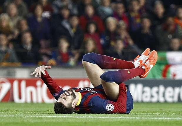 Piqué se lesionó en el último partido de Champions