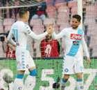 Mertens brace sends Napoli second