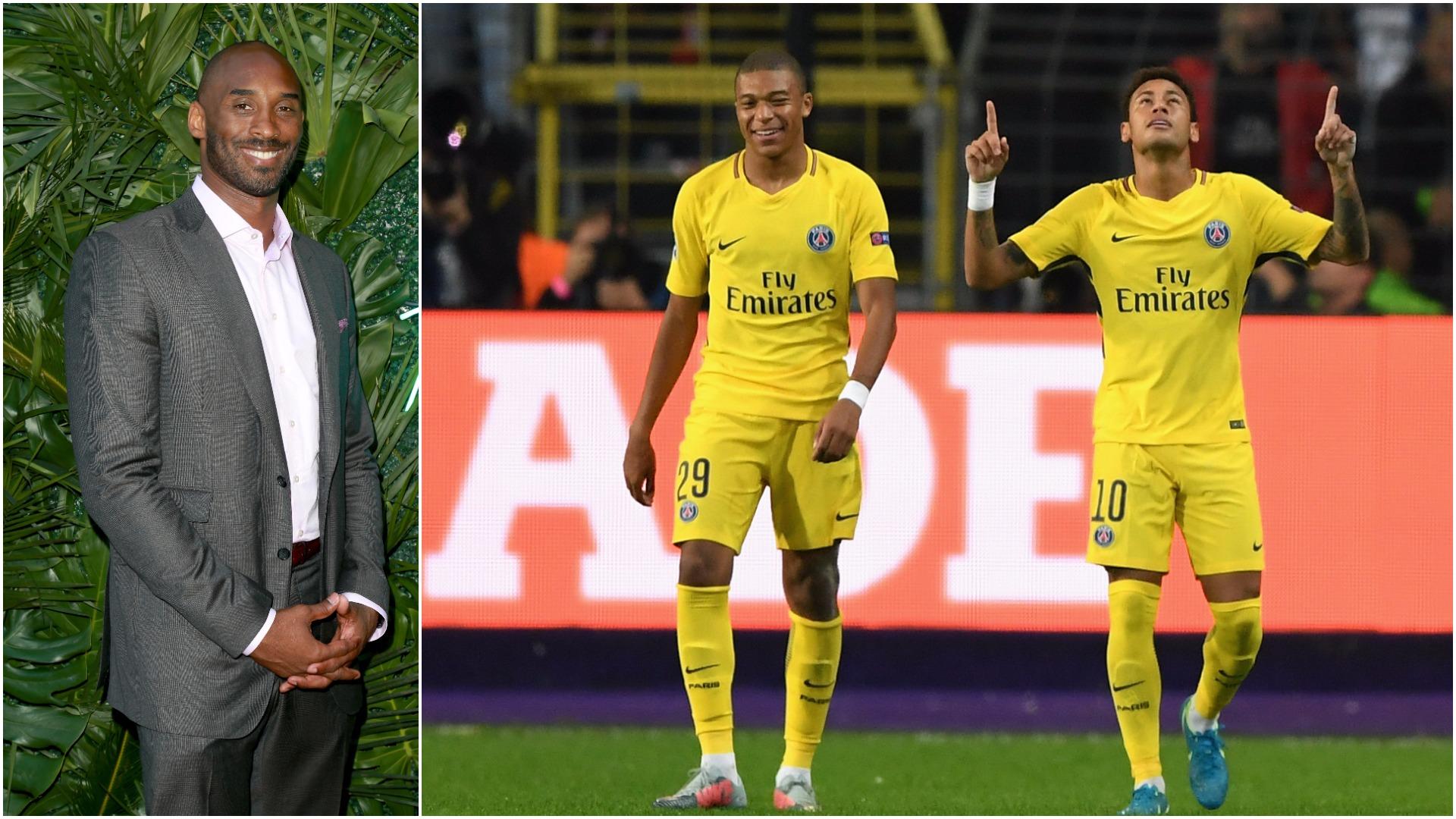 Kobe Bryant impresses Neymar, other PSG stars with soccer skills