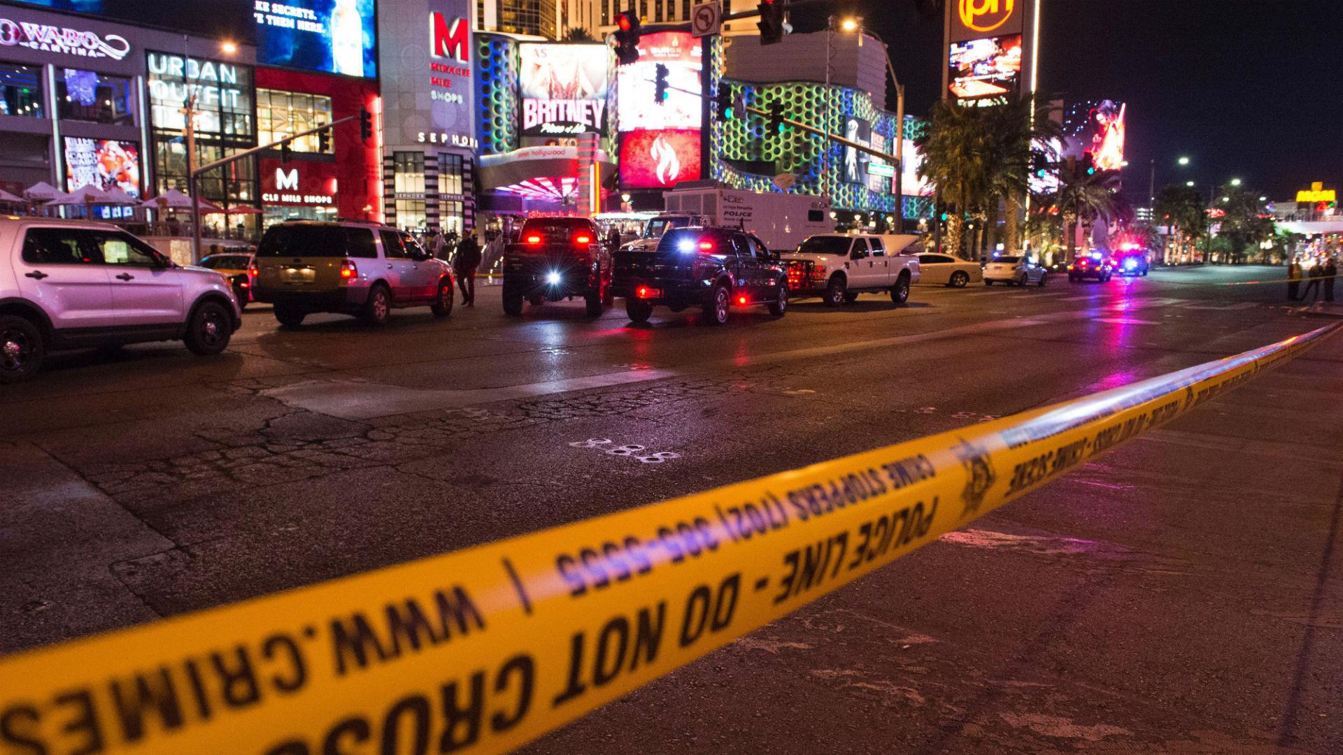 Scene of Las Vegas Strip incident