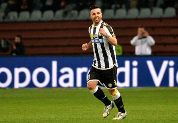 Antonio Di Natale hat auch gegen Milan getroffen