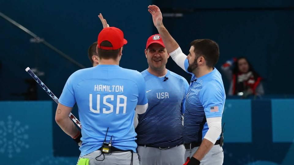 Team USA celebrates.