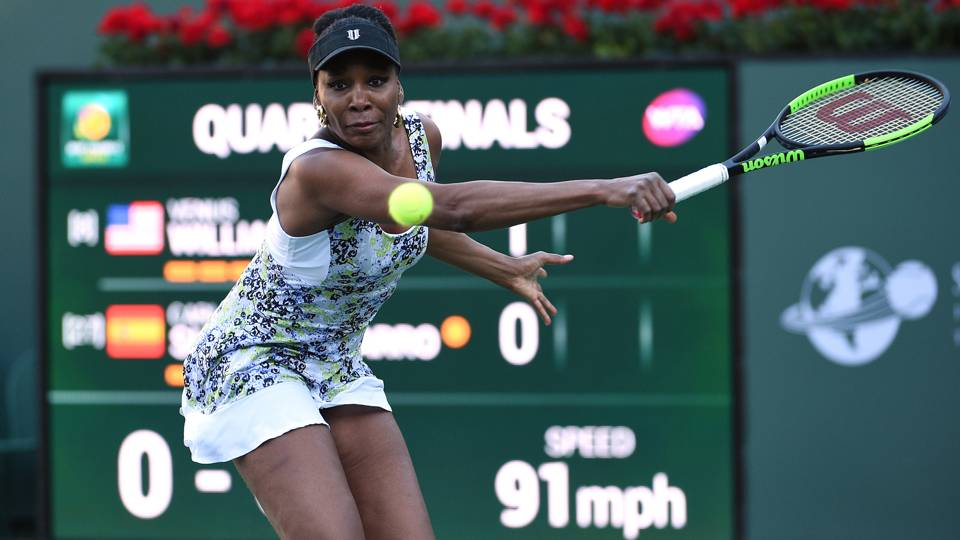 Venus Williams into Indian Wells semis for first time since 2001