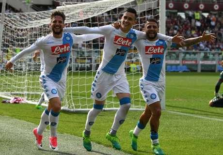Napoli thrash Torino to move second