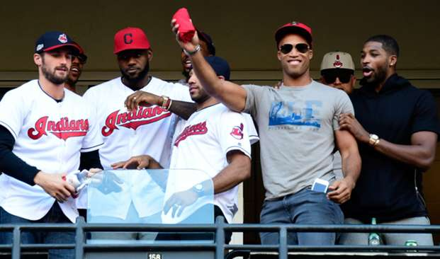 Cavs cheer on Indians
