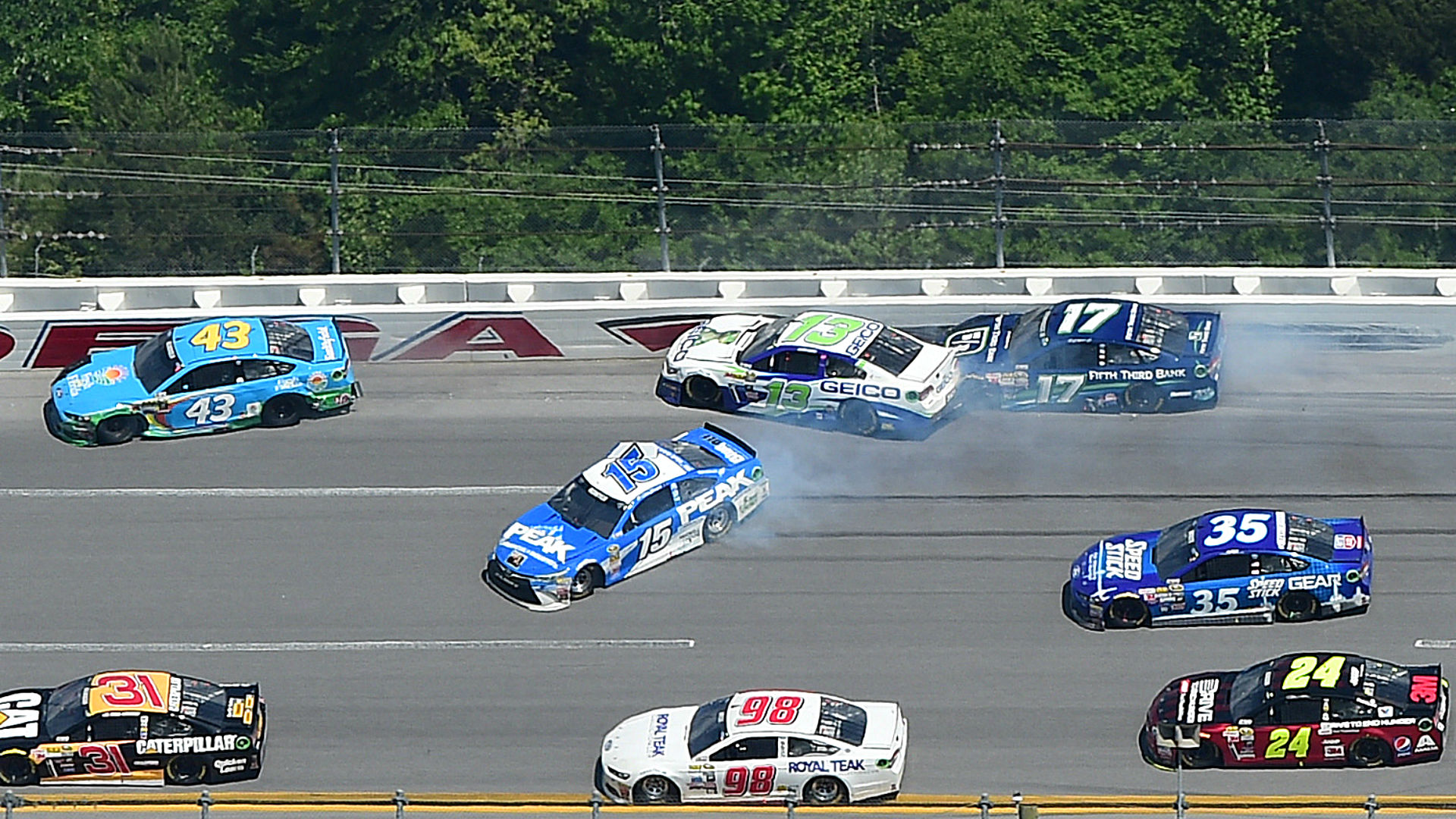 Drivers involved in the 'big one,' emotional Dale Jr. highlight Talladega audio