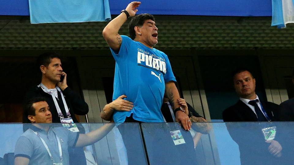 World Cup 2018: Maradona insists he's 'fine' after health scare