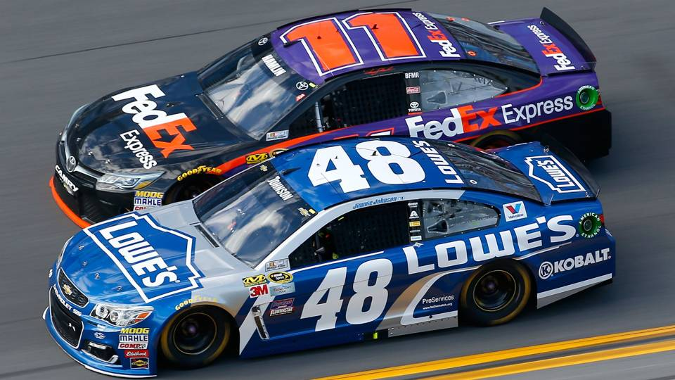 Denny Hamlin, Jimmie Johnson