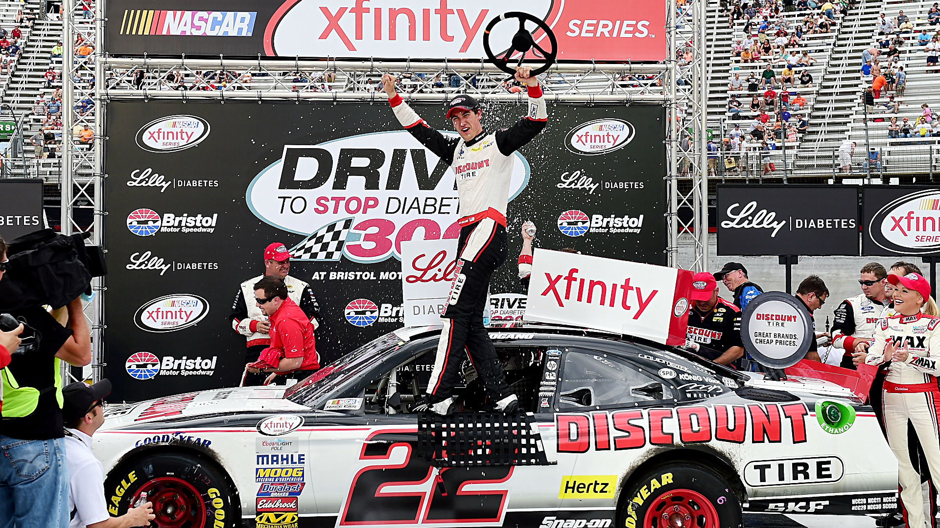 Joey Logano leads every lap to win Xfinity Series race at Bristol