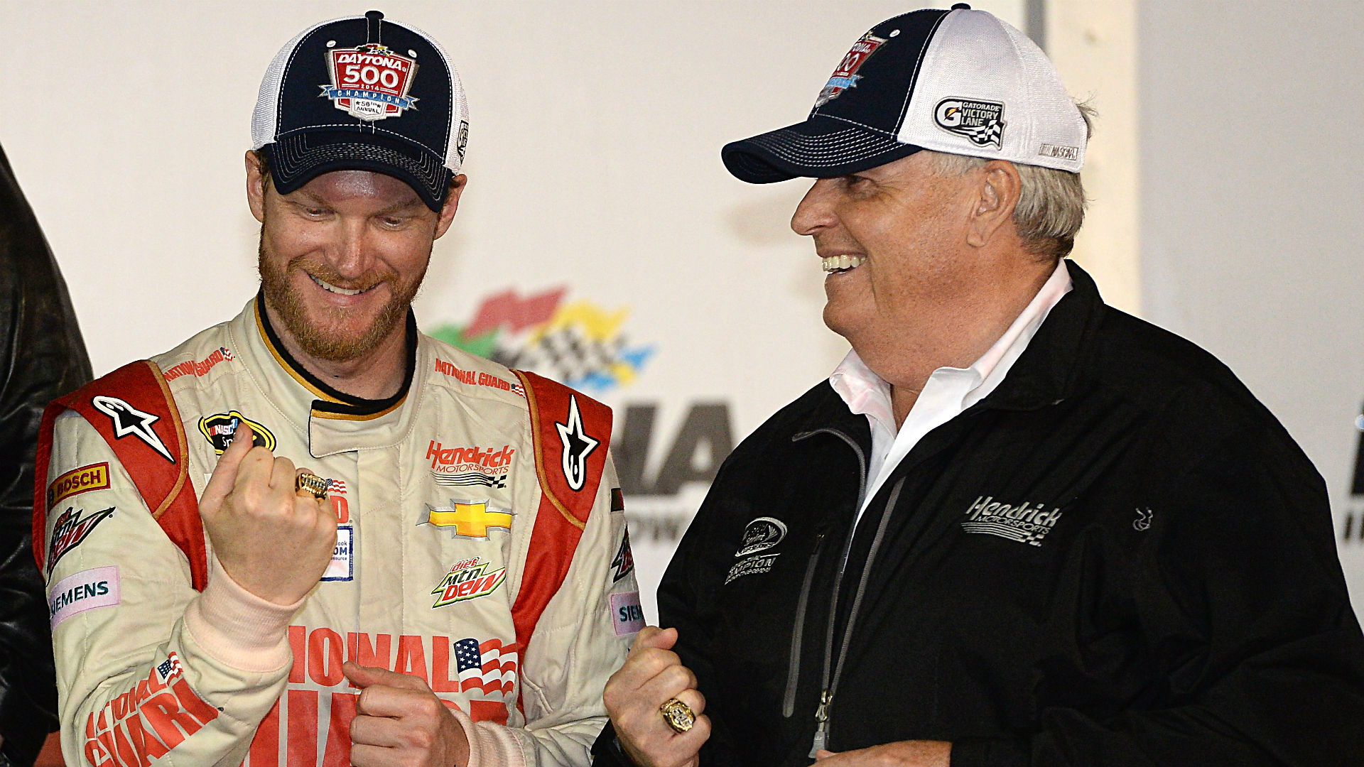Dale Earnhardt Jr. and Rick Hendrick