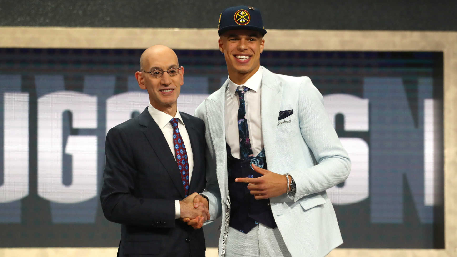 Michael Porter Jr. and Adam Silver