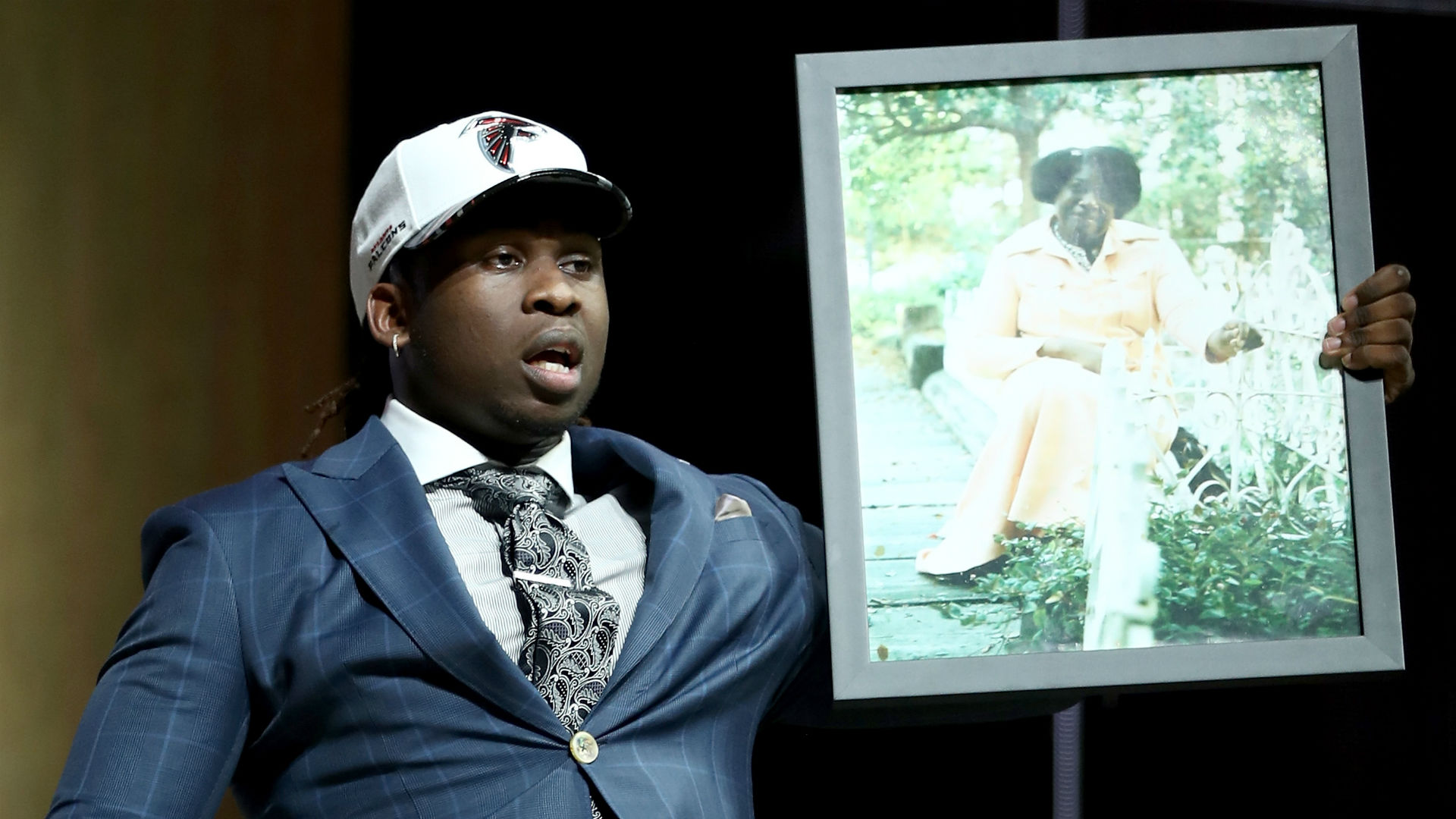 Falcons' Takkarist McKinley is really happy to be a millionaire