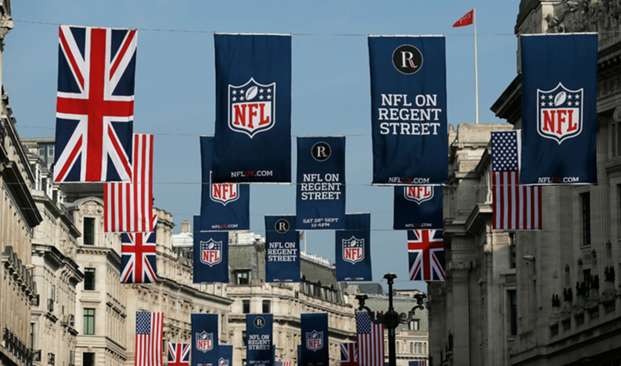 NFL banners in London
