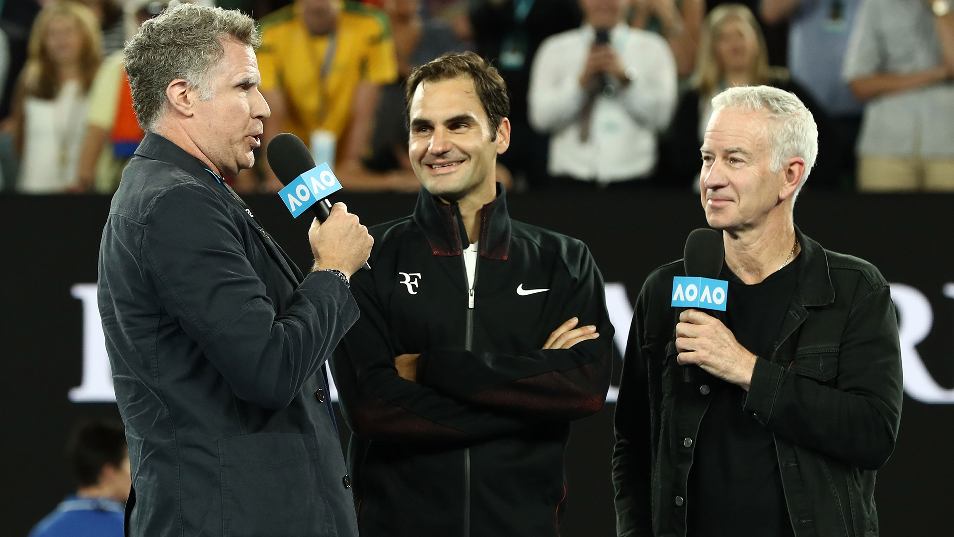 Will Ferrell's freaky interview of Roger Federer