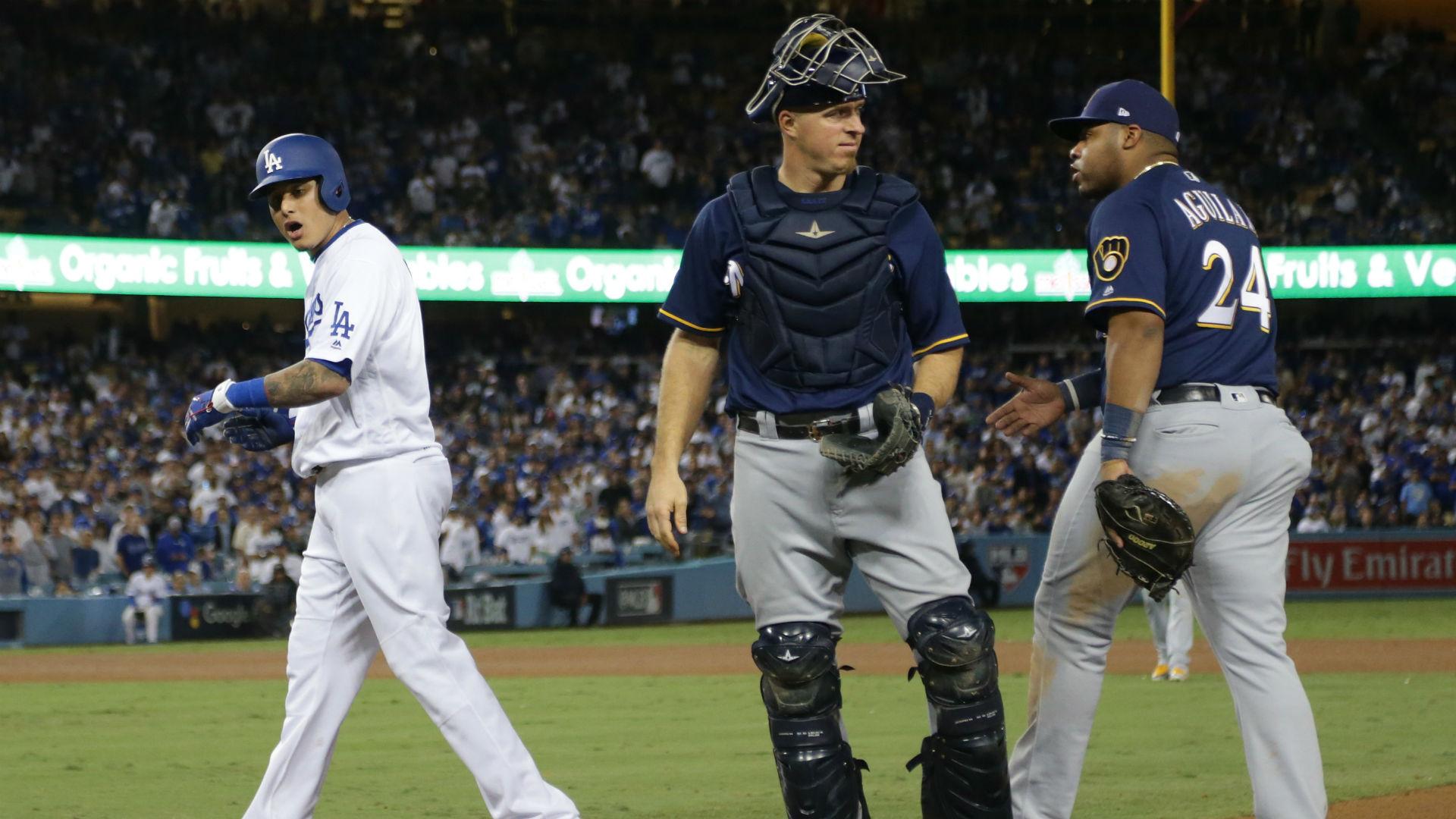 MLB postseason 2018: Manny Machado fined $10K after running into Jesus Aguilar, report says