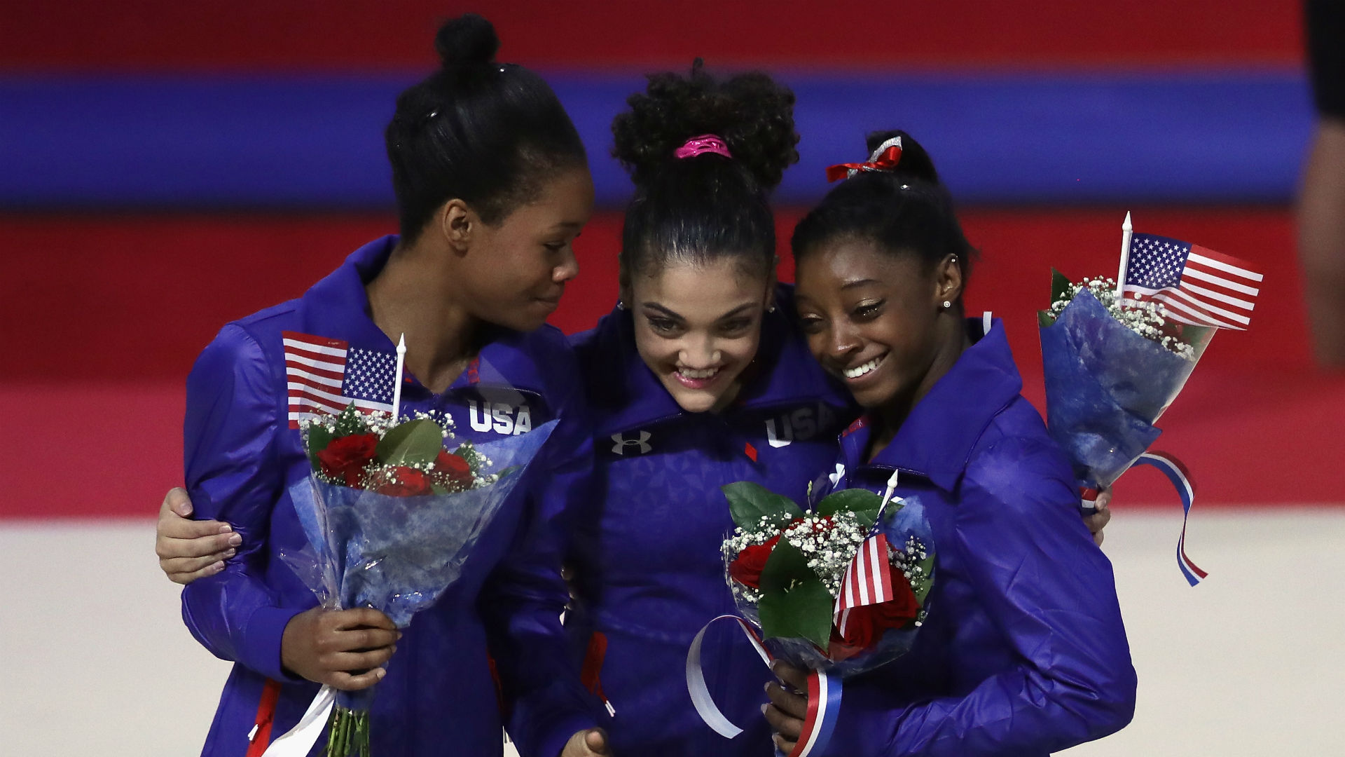 U.S. women's gymnastics team leads team-final qualifying