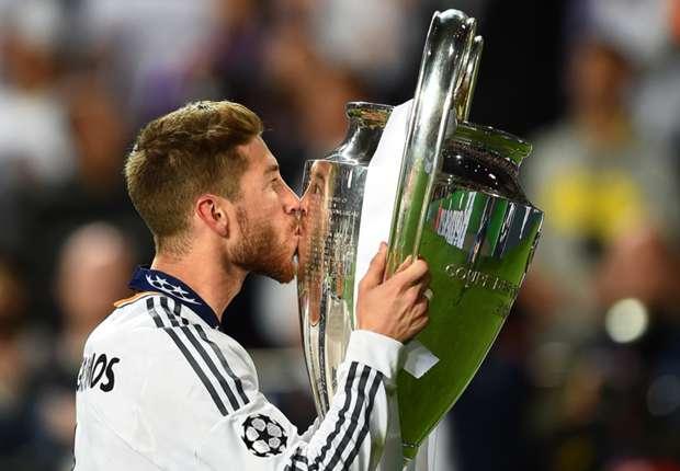 Ramos celebra la consecución de la Champions