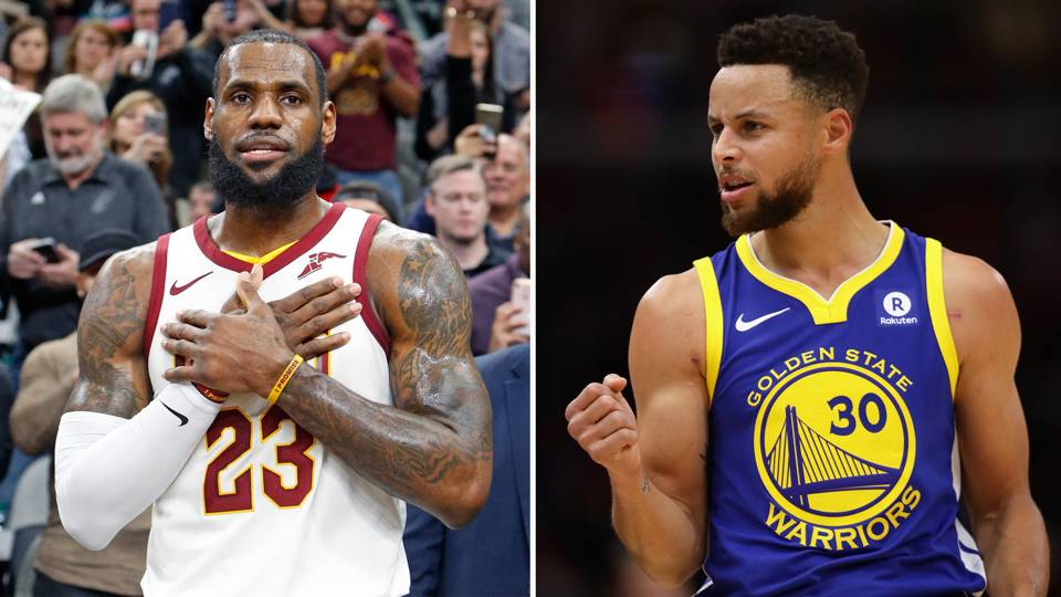 LeBron James (left) and Stephen Curry