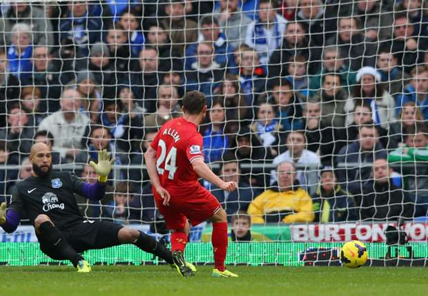 Liverpool midfielder Allen not haunted by Merseyside derby miss