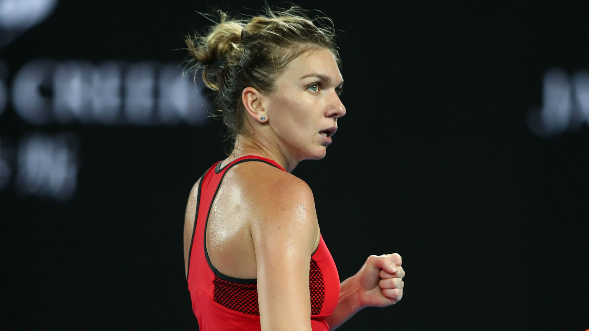 Halep wins on return, Wozniacki cruises