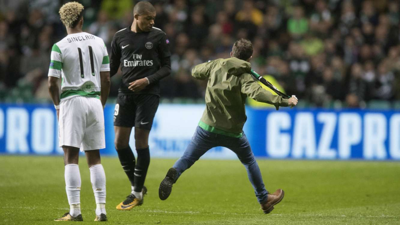 UEFA opens Celtic disciplinary proceedings after fan attempted to kick Mbappe