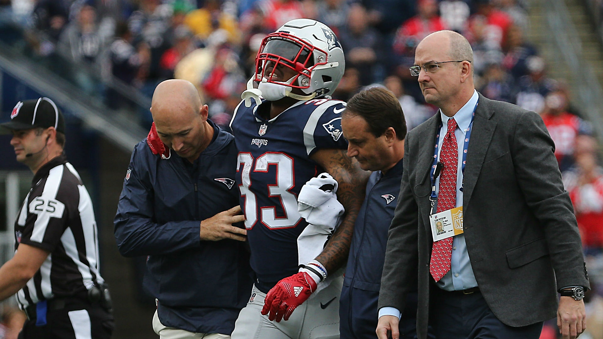 Patriots lose Jeremy Hill to torn ACL