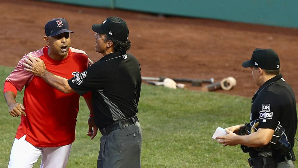 Alex Cora ejected as tensions flare between Red Sox and Yankees