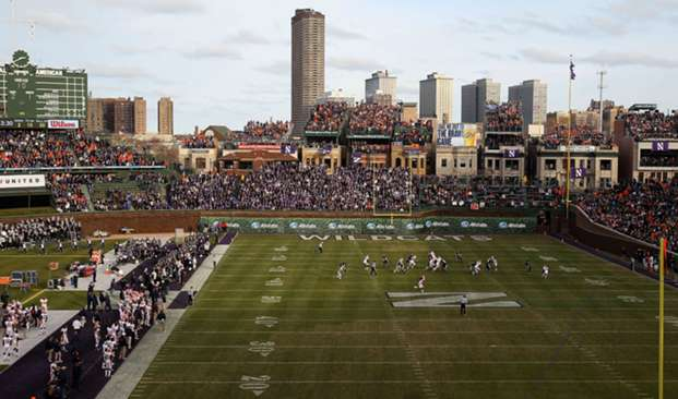 College football at Wrigley Field