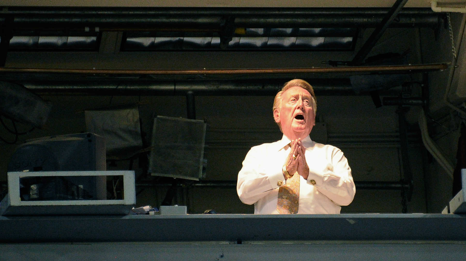 Dodgers announcer Vin Scully