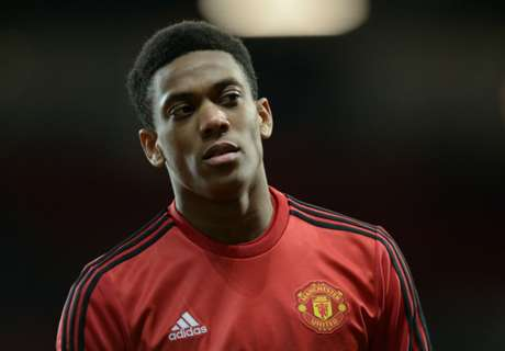 Martial injured in warm-up
