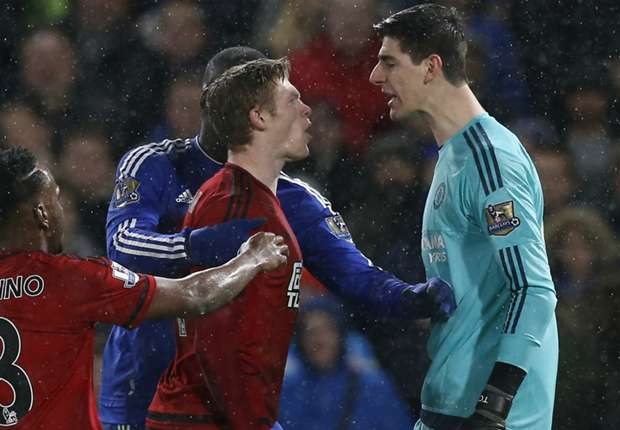 West Brom players tried to provoke us - Courtois