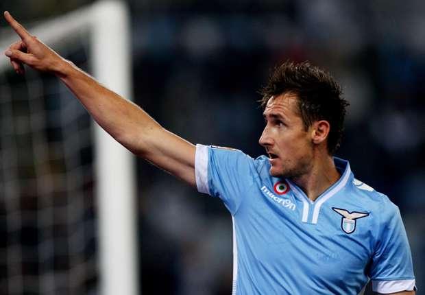 Lazio striker Miroslav Klose