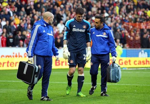 Sunderland goalkeeper Westwood out for season with shoulder injury