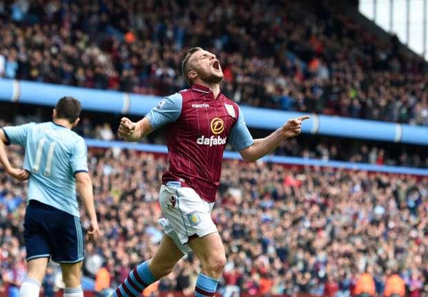 Aston Villa's Tom Cleverley celebrates