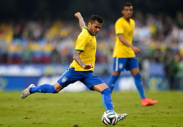 Dani Alves calm over last-16 draw