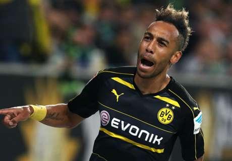 Aubameyang double sinks Wolfsburg