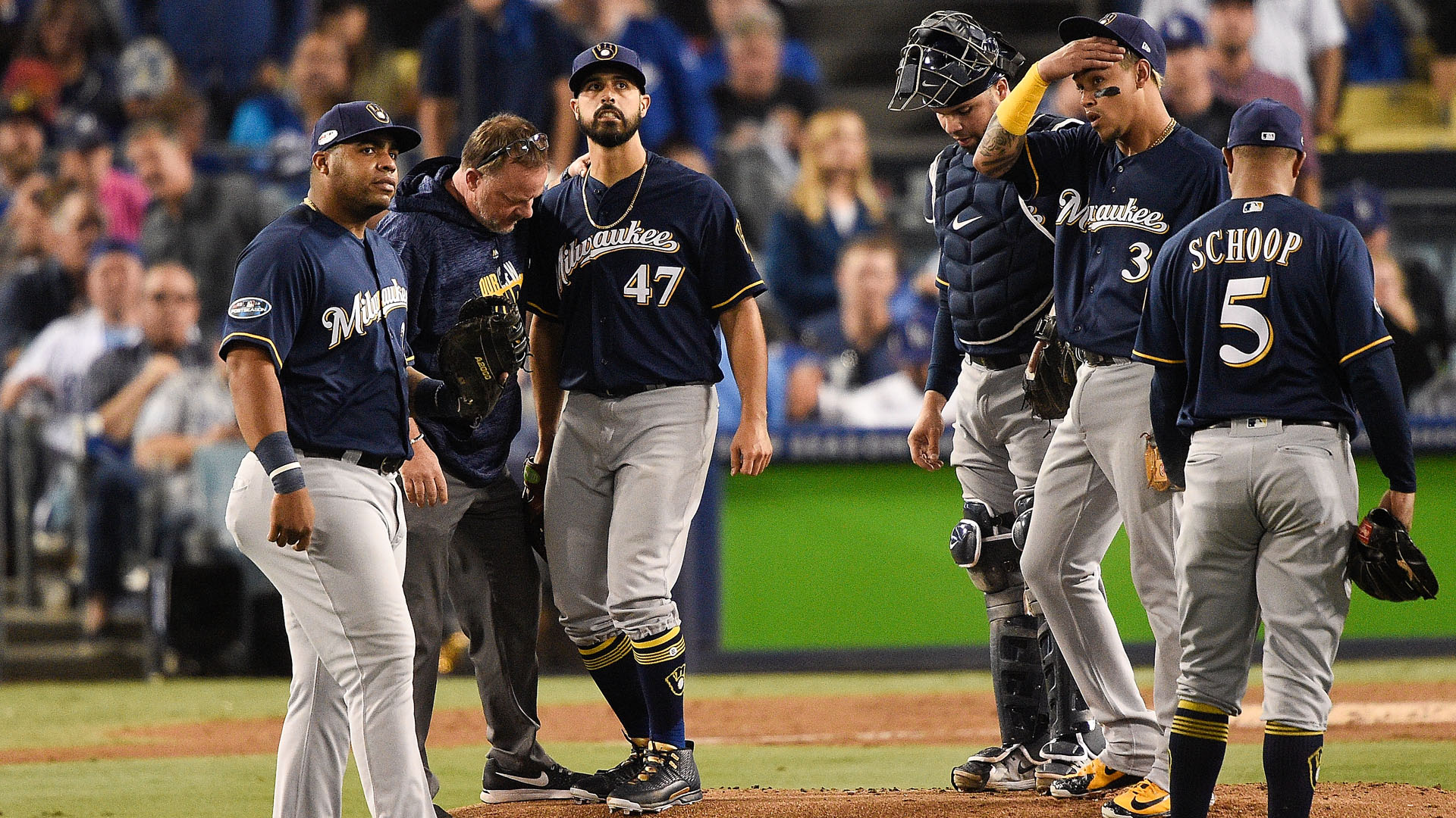 Gio Gonzalez injury update: Brewers P (ankle) done for MLB 2018 postseason, reports say