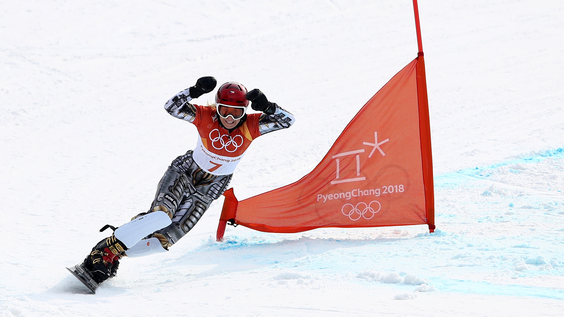 Ledecka makes history in the Snowboard Parallel Slalom