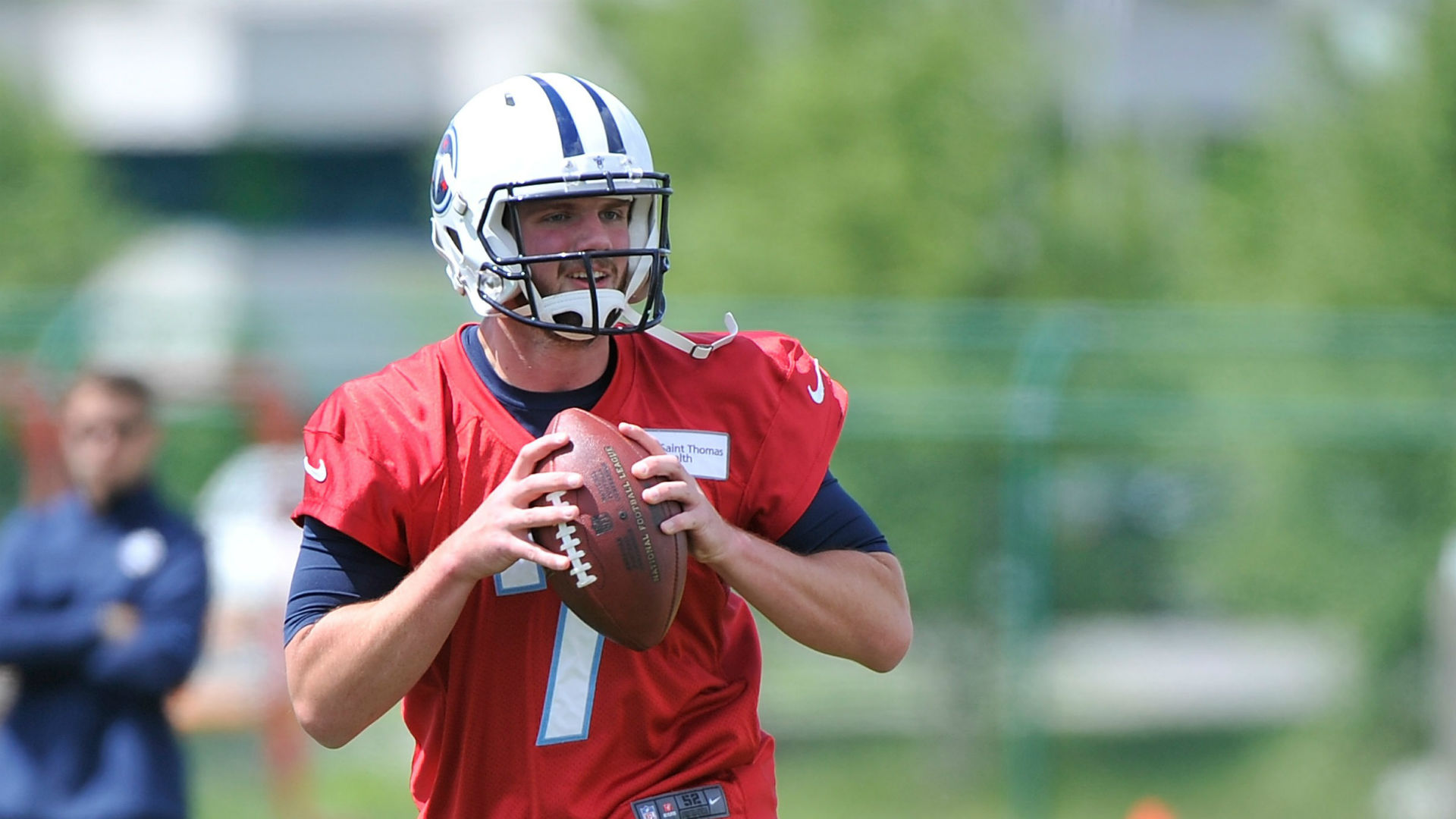 Titans' Zach Mettenberger wore Eddie George jersey after spelling mishap