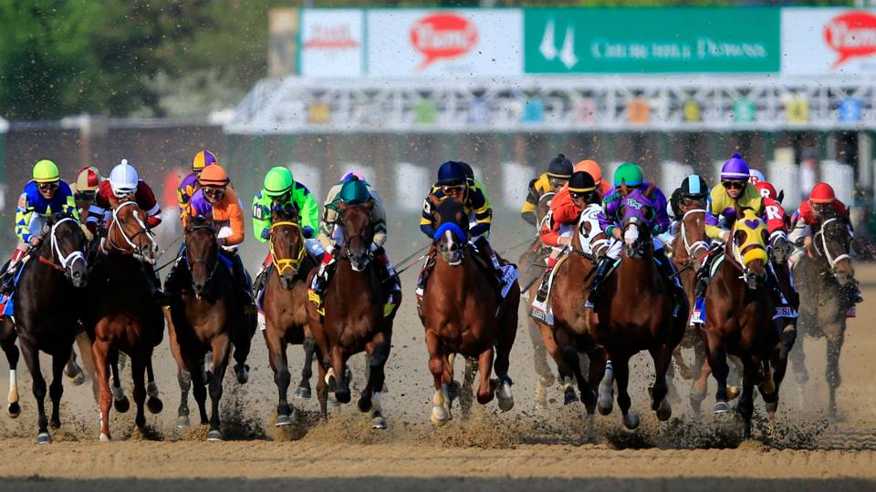 Start of Kentucky Derby in 2016