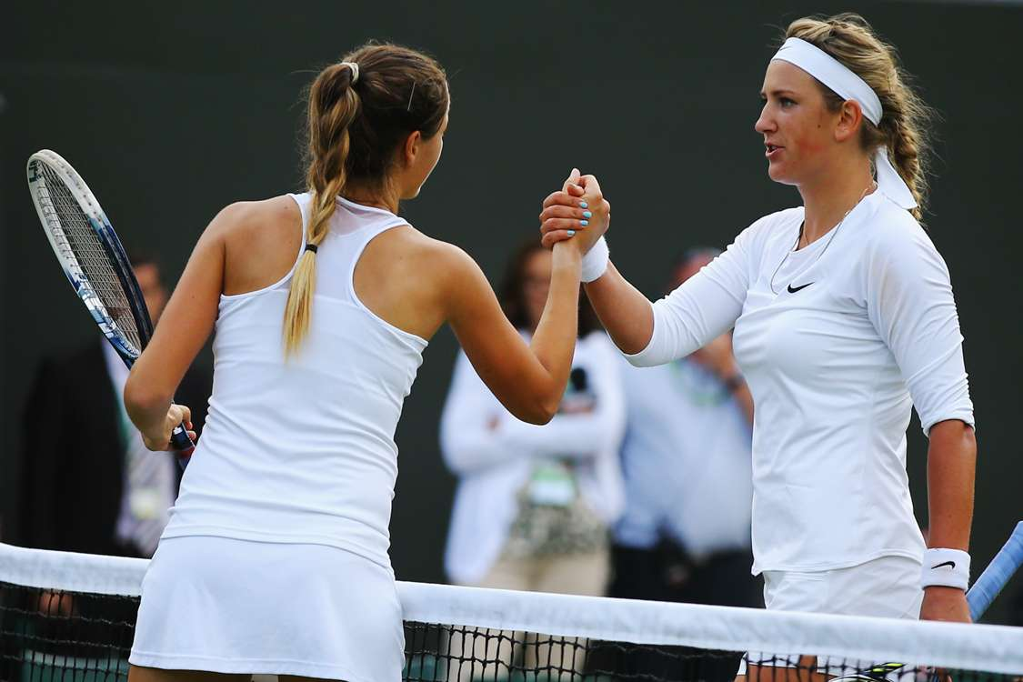 Azarenka tumbles out as Li, Kvitova cruise through