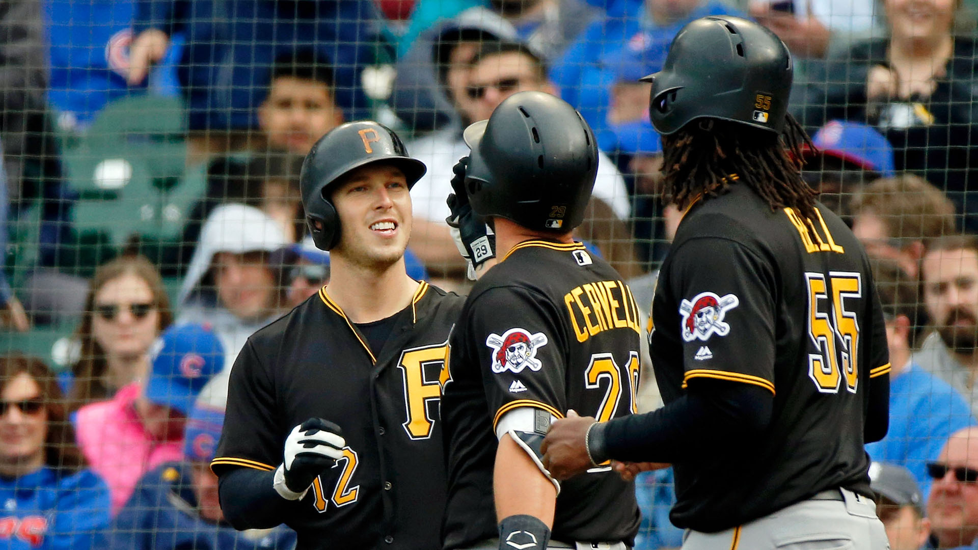 Gregory Polanco hits 2 of Pirates' 4 homers in rout of Cubs